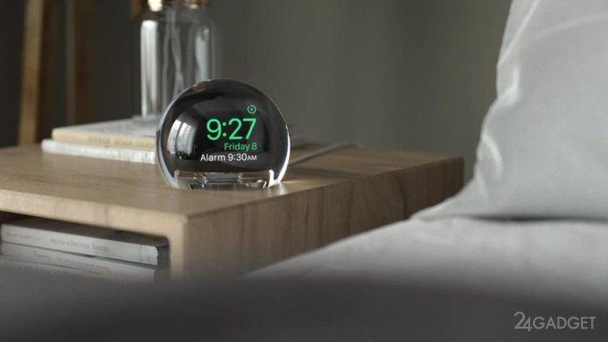 Полусфера NightWatch «превращает» Apple Watch в настольные часы (4 фото + видео)
